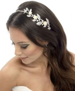 floral wedding headband erin