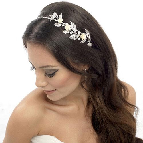 floral wedding headband erin