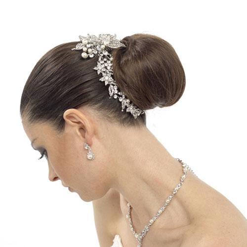 Plastic Wedding Bands >> Crystal Bridal Hair Accessory - Ella - Zaphira Bridal