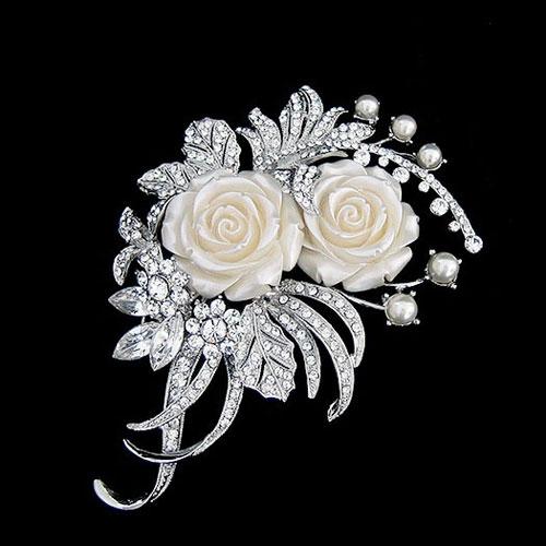 floral bridal hair accessory