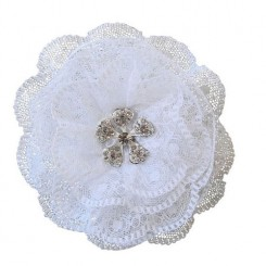 Lace Flower Wedding Hair Clip