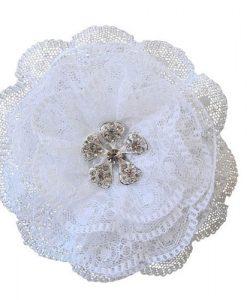Lace Flower Wedding Hair Clip