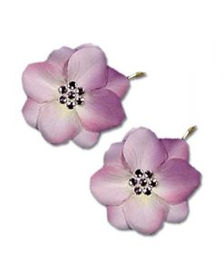 set of two lilac wedding hair pins
