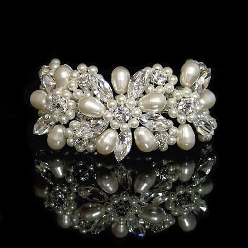 Liza Designs LN15 Pearl Wedding Bracelet