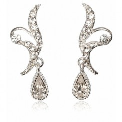 London Vintage Crystal Earrings