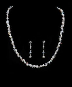 Freshwater Pearl and Swarovski Crystal Jewellery Set