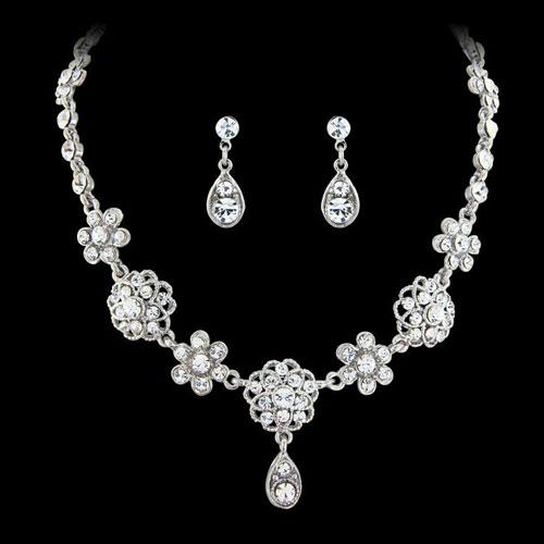 Vintage Flower Wedding Jewellery Set
