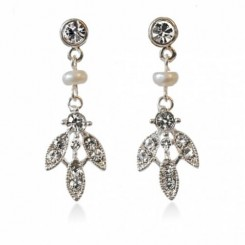 Paris Freshwater Pearl and Crystal Earrings