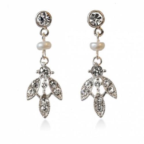 Paris Freshwater Pearl and Crystal Earrings