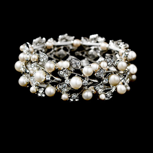 Crystal and pearl bridal bracelet amy zaphira bridal crystal and pearl bridal bracelet amy junglespirit Gallery