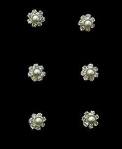 Pearl and Crystal Wedding Hair Swirls