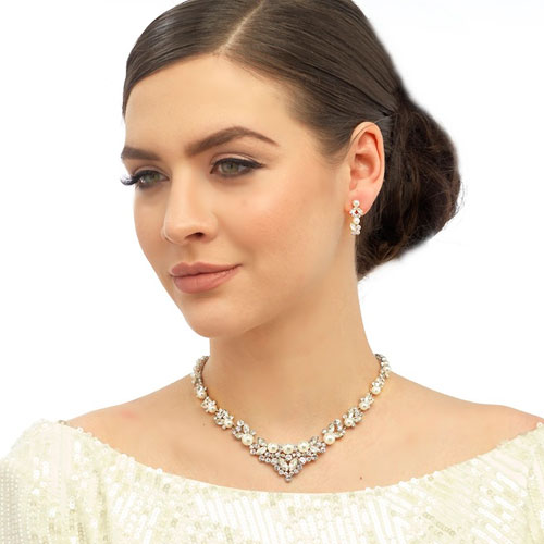 Crystal and Pearl Jewellery Set