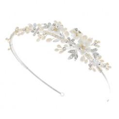 petal floral side tiara