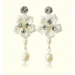 Petal Floral Wedding Earrings by Starlet Jewellery