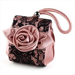 Satin and Lace Bridesmaids Bag