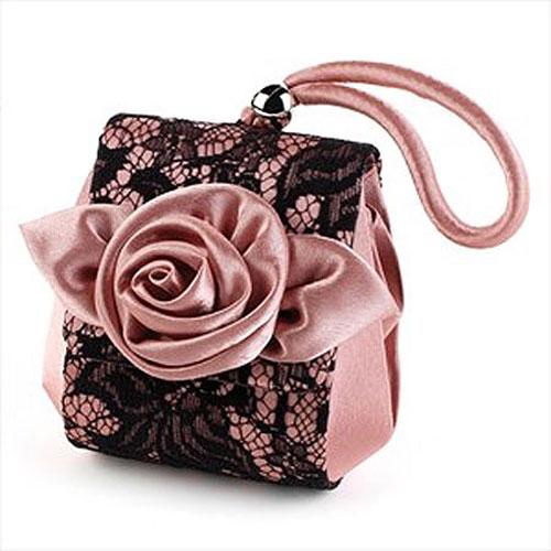 Satin and Lace Bridesmaids Bag