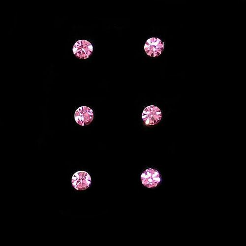 crystal bridal hair twists in pink