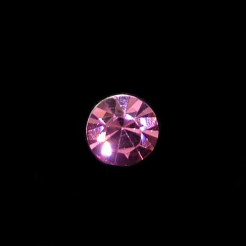 crystal bridal hair twists pink