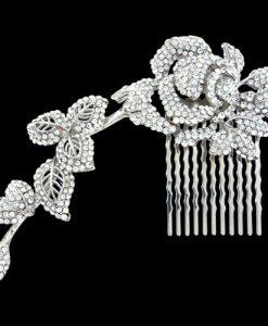 Trailing Crystal Bridal Comb