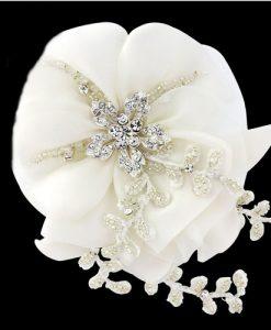 organza wedding hair flower
