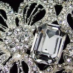 charlotte balbier cb52 vintage crystal comb