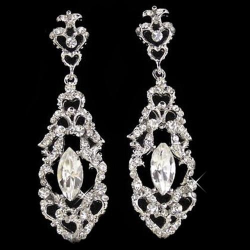 Crystal Filigree Earrings Freya