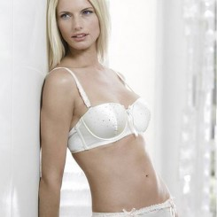 Bjem Silk Crystal Bridal Bra