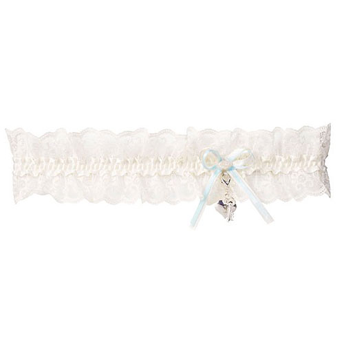 Lace Wedding Garter with Heart KB36