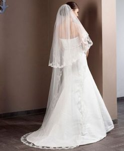 Cathedral Length Lace Veil S50 280