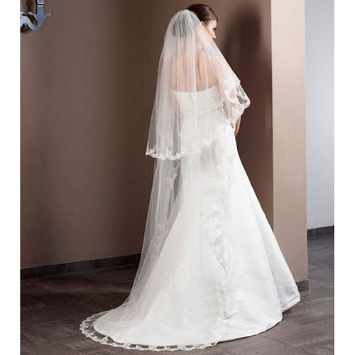 Chapel Train Lace Bridal Veil S50 210