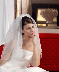 Beaded Wedding Veil S85