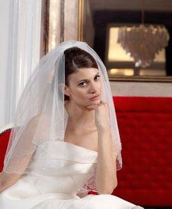 Beaded Wedding Veil S85
