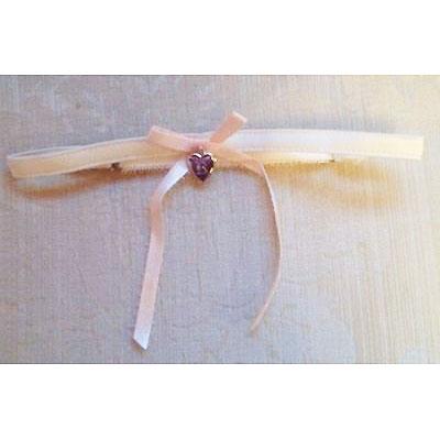 Ivory Silk Satin Bridal Garter ZL27