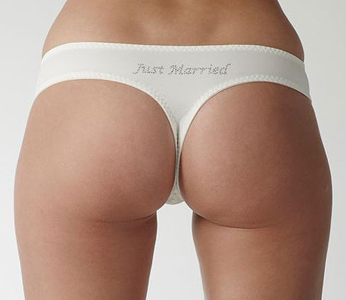 Carnival Lace Bridal G String 3127 just married