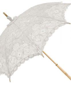 emma lace wedding parasol white