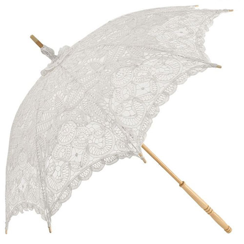 emma lace wedding parasol white