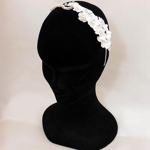 Lace Flower Wedding Headband Florentina