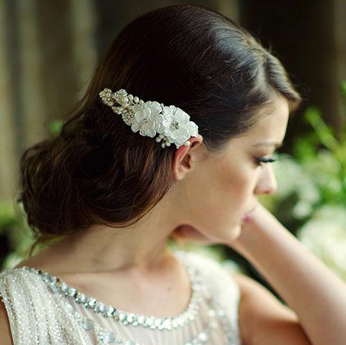 Floral Bridal Hair Comb Anais