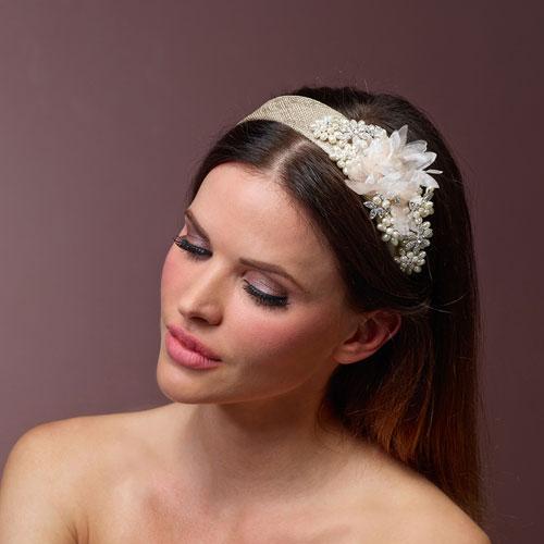 Gold Floral Wedding Headpiece