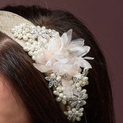 Gold Floral Wedding Headpiece