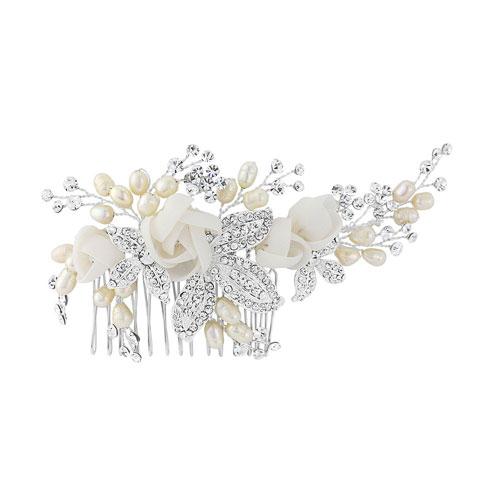Floral Bridal Hair Comb clarissa
