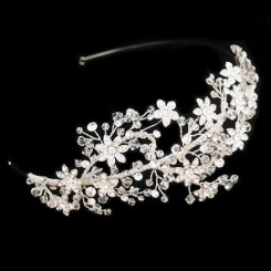 Crystal Flower Bridal Side Tiara