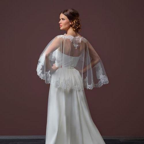 Lace Edged Bridal Capelet
