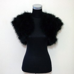 black feather bolero jacket