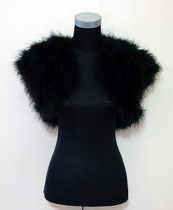 black feather bolero jacket