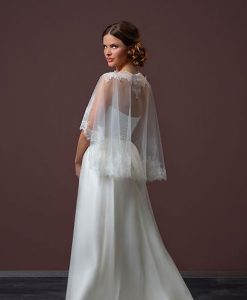 Lace Edged Bridal Capelet