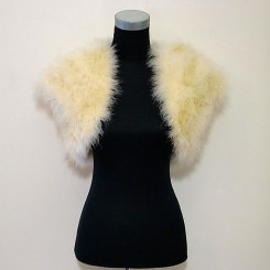 Champagne Feather Wedding Bolero