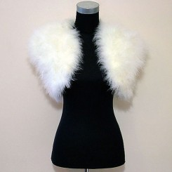 Ivory Feather Wedding Shrug