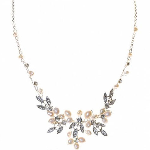 Paris Pearl Wedding Necklace