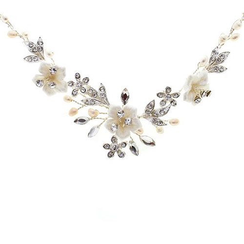 Petal Floral Wedding Necklace